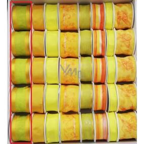 Ditipo Stuha látková s drátkem žluto zelená 2 m x 40 mm