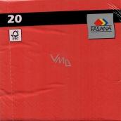 Fasana Papírové ubrousky barevné červené 3 vrstvé 33 x 33 cm 20 kusů