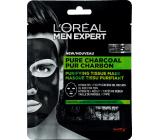 Loreal Paris Men Expert Pure Charcoal čisticí textilní pleťová maska pro muže 30 g