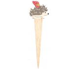 Ježek dřevěný zápich 9 x 29 cm