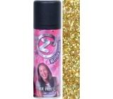 Zo Cool Glitter Sprej glitry na vlasy a tělo Gold 125 ml