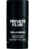 Karl Lagerfeld Private Klub for Men deodorant stick pro muže 75 g