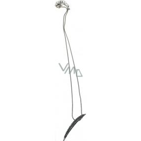 Bižuterie Náhrdelník stříbrný s přívěškem 42 cm