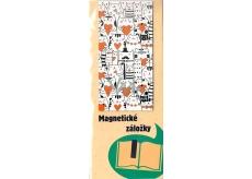 Albi Magnetická záložka do knížky Kreslené kočky se srdíčky 9 x 4,5 cm