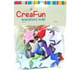CreaFun Samolepicí dekorace Hvězda Eva mix barev 30 x 35 mm 30 kusů