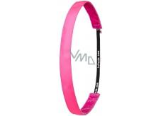 Ivybands Protiskluzová čelenka do vlasů neonově růžová, unisex, 1,9 cm