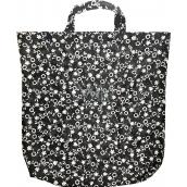 Taška nákupní černo-bílá vzorovaná 46 x 43 x 8 cm
