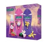 Palmolive Glamorous sprchový gel 250 ml + Relaxed sprchový gel 250 ml + Raspberry pěnové tekuté mýdlo 250 ml, kosmetická sada