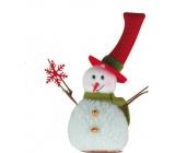 Sněhulák s vločkou na postavení 15 cm
