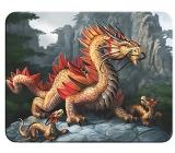 Prime3D magnet - Zlatý horský drak 9 x 7 cm