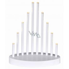 Emos Osvětlení svícen bílá pyramida 20 x 24,5 cm, 10 LED, teplá bílá