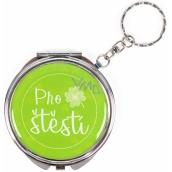 Albi Zrcátko - klíčenka s textem Pro štěstí 6,5 cm
