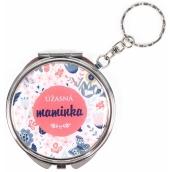 Albi Zrcátko - klíčenka s textem Úžasná maminka 6,5 cm