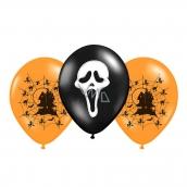 Rappa Balónek nafukovací s potiskem Halloween 2 barvy, 3 kusy
