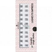 Essence Lashes To Impress umělé řasy 07 Bundled Single Lashes 20 kusů