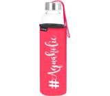 Nekupto Neplastuj Skleněná láhev na pití Aquaholic 500 ml