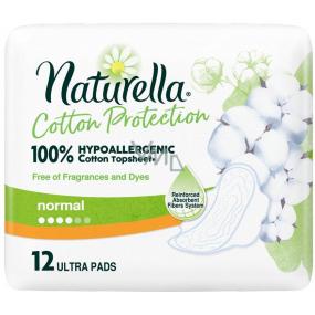 Naturella Cotton Protection Ultra Normal hygienické vložky s křidélky 12 kusů