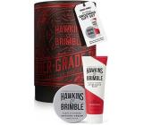 Hawkins & Brimble krém na holení 100 ml + balzám po holení 125 ml + plechový box, kosmetická sada pro muže