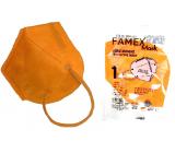 Famex Respirátor ústní ochranný 5-vrstvý FFP2 obličejová maska oranžová 1 kus