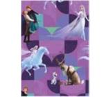 Ditipo Dárkový balicí papír 70 x 200 cm Vánoční Disney Ledové království fialový