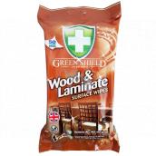 Green Shield 4v1 Dřevo a Lamináty vlhčené čistící ubrousky 50 kusů