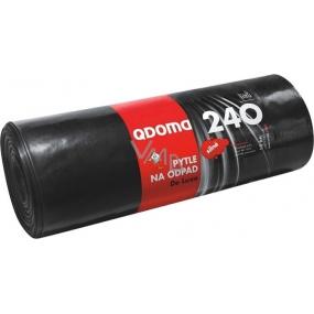 QDoma Pytle na odpad černé silné 240 litrů, 120 x 145 cm, 10 kusů