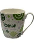 Nekupto Twister hrnek se jménem Roman zelený 0,4 litru 069 1 kus