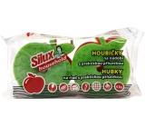 Silux Household Houbička na nádobí s praktickou přísavkou Jablko 4 kusy