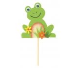 Žabák z filcu zápich 8 cm + špejle