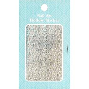 Nail Accessory Hollow Sticker šablonky na nehty 129 multibarevné kopretina 1 aršík