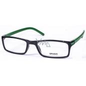 Berkeley Čtecí dioptrické brýle +3,5 černé zelené stranice 1 kus MC2 ER4045