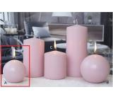 Lima Ice pastel svíčka růžová koule 80 mm 1 kus