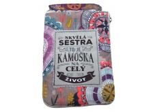 Albi Skládací taška na zip do kabelky s nápisem Skvělá sestra 42 x 41 x 11 cm
