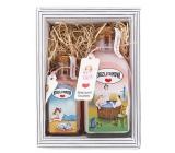 Bohemia Gifts Kouzlo domova - Růžea šípek sprchový gel 250 ml + sůl do vody 110 g kosmetická sada