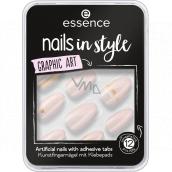 Essence Nails In Style umělé nehty 09 Graphic Art 12 kusů