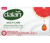 Dalan Multi Care Pink Grapefruit & Caring Milk toaletní mýdlo 90 g