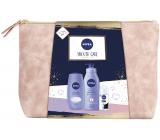 Nivea Smooth Care tělové mléko 400 ml + sprchový gel 250 ml + antiperspirant roll-on 50 ml + etue, kosmetická sada pro ženy