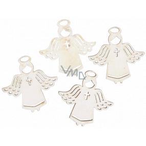 Anděl dřevěný bílý 3,5 cm 12 kusů