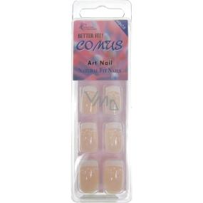 Absolute Cosmetics Comus Art Nail umělé nehty francouzská manikúra FMN02 20 kusů