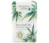 Bohemia Gifts & Cosmetics Cannabis Konopný olej relaxační toaletní mýdlo 100 g