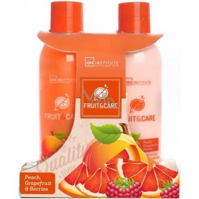 Idc Institute Fruit & Care Peach, Grapefruit & Berries sprchový gel 180 ml + tělové mléko 180 ml, kosmetická sada