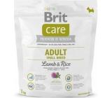 Brit Care Adult Jehněčí + rýže superprémiové krmivo pro dospělé psy malých plemen 1 kg