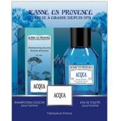 Jeanne en Provence Men Acqua toaletní voda 100 ml + 2v1 šampon a sprchový gel 250 ml, dárková sada