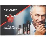 Astrid Diplomat Classic voda po holení 100 ml + pěna na holení 250 ml + deodorant sprej 150 ml, kosmetická sada