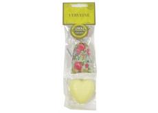 Le Chatelard Verbena a Citron látkový pytlíček plněný vonnou směsí 7 g + toaletní mýdlo ve tvaru srdce 25 g, kosmetická sada