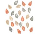 Listy dřevěné přírodní barvy 2 cm 24 kusů