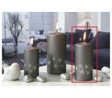 Lima Starlight svíčka šedá/stříbrná válec 60 x 120 mm 1 kus