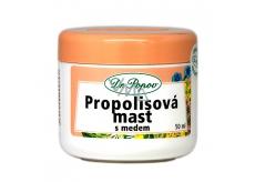 Dr. Popov Propolisová mast s medem na popraskanou pokožky, jizvy, vrásky, kožní problémy, sluneční záření 50 ml