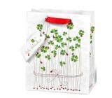 BSB Luxusní dárková papírová taška 23 x 19 x 9 cm Čtyřlístky LDT 396 - A5