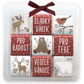 Nekupto Čokoládové puzzle vánoční Zvířátka 9 x 5 g, 11 x 11,5 x 0,7 cm